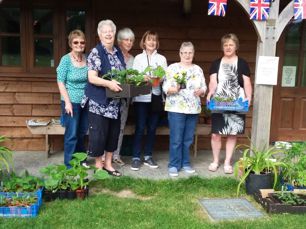 WI 'Plant ladies' at their 2018 Plant and Cake Sale. Meet them again on 11 May 2019 in the Egerton Sports Pavilion.